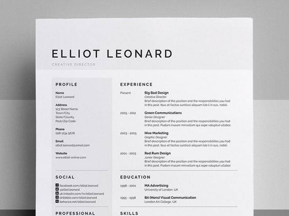 Creative Resume, Design And