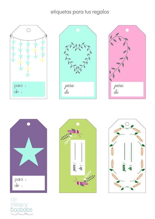 Etiquetas para regalos imprimibles pinterest vintage - Etiquetas para regalos para imprimir ...