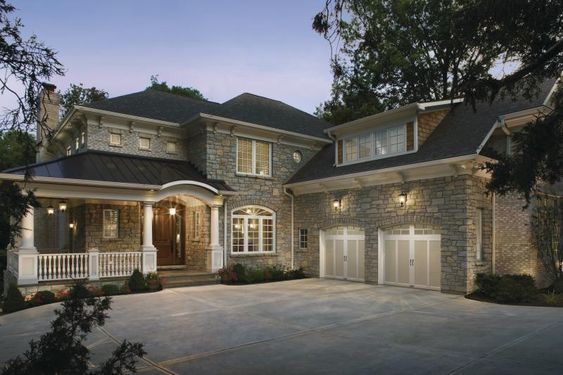 Beautiful brick home love this exterior look with the for Beautiful brick and stone homes