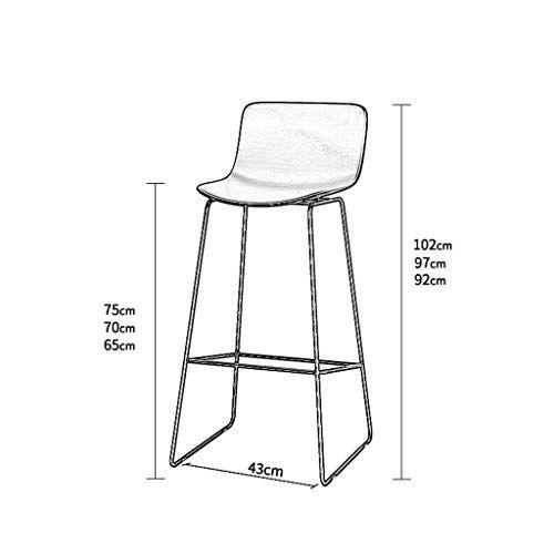 Yyy Retro Bar Chair Black And White Modern Bar Chair Simple Casual Creative Iron Chair Size 70cm Style C Iron Chair Modern Bar Bar Chairs