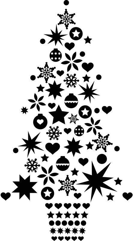 Sticker sapin de Noël Classique