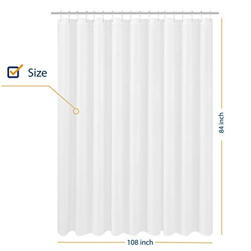 N Y Home Extra Wide Extra Long Fabric Shower Curtain Liner 108 X