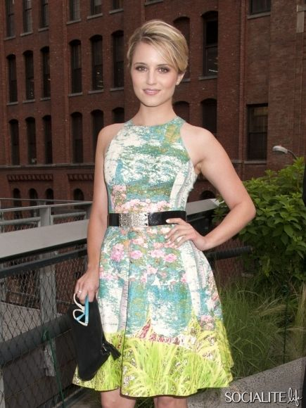 Dianna Agron at Coach's 2nd Annual Party on the Highline in New York City. June 19, 2012. - love the dress!