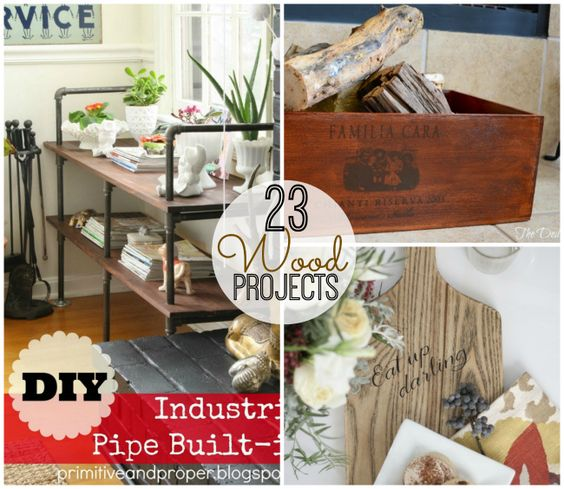 Great Ideas — 23 DIY Wood Projects!! #FavThingsHop