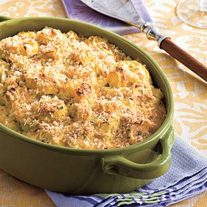 yummy side dish for holidays! Two-Cheese Squash Casserole