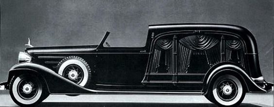 Packard Hearse Traveling to the Afterlife in Style.