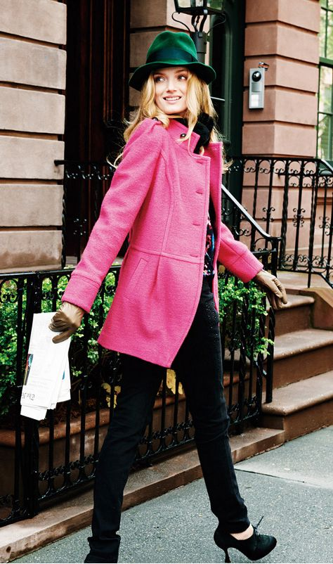 Pink jacket.... Love this!!