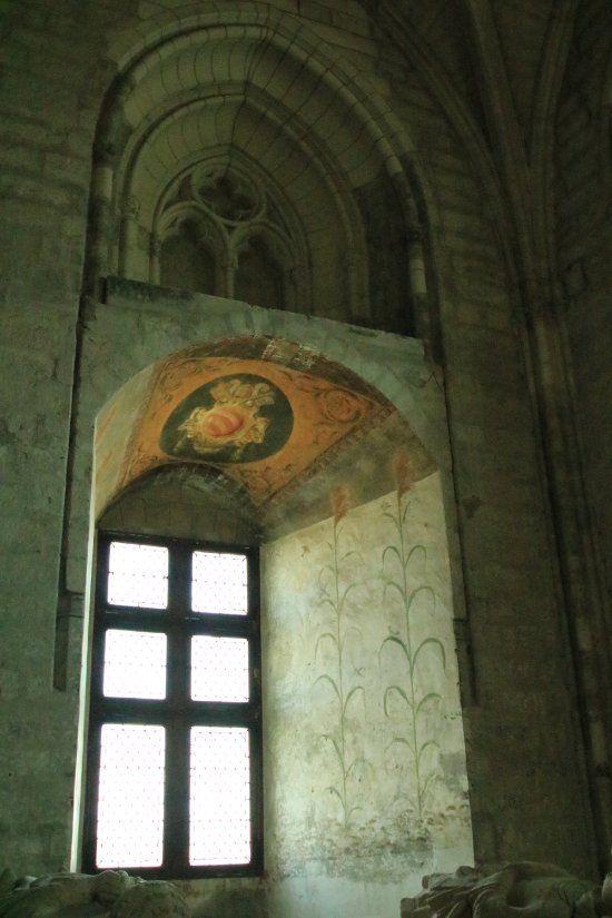Palais Des Papes Avignon Sacristie Sud Peintures Dans L Embrasure Roseaux Palais Des Papes Avignon Visite
