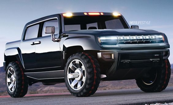 New 2021 Gmc Hummer Ev Rendering Looks Just About Right Top Speed In 2020 Pickup Trucks Hummer Truck Hummer