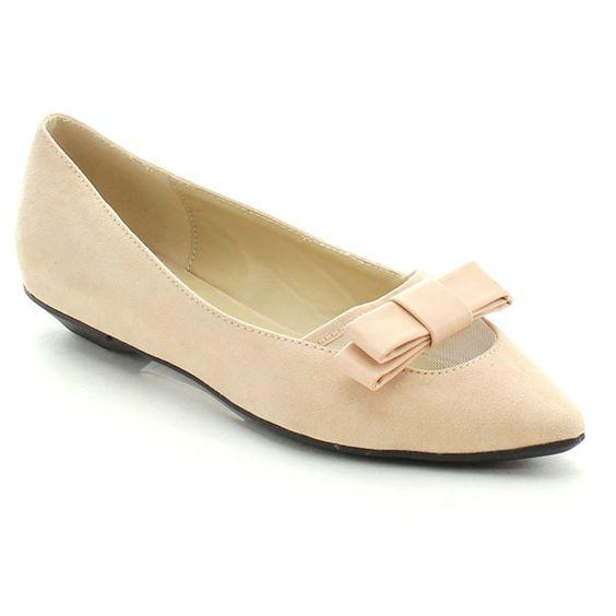 Cape Robbin Avis-JYX-1 Women's Comfort Basic Bow Detail Slip-on Ballet Flats