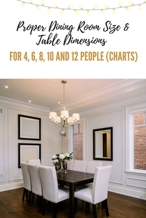 Proper Dining Room Table Dimensions For 4 6 8 10 And 12 People Charts Wood Floor Dining Room Dining Room Remodel Custom Dining Room