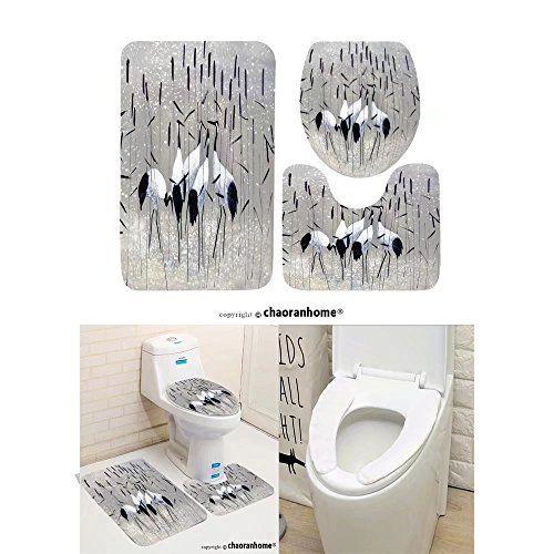 Chaoranhome Pattern Bath Mat Set 3 Piece Bathroom Mats Family Of