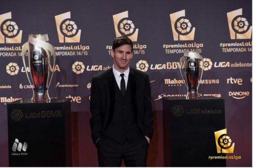 """Messi Suarez Neymar on Twitter: """"#PremiosLaLiga El mejor delantero de la #LigaBBVA 2014/15 es... ¡Leo Messi! https://t.co/Vr3vWH7tcu"""""""