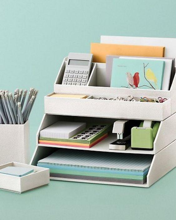 20 Creative Home Office Organizing Ideas Desk accessories Desks