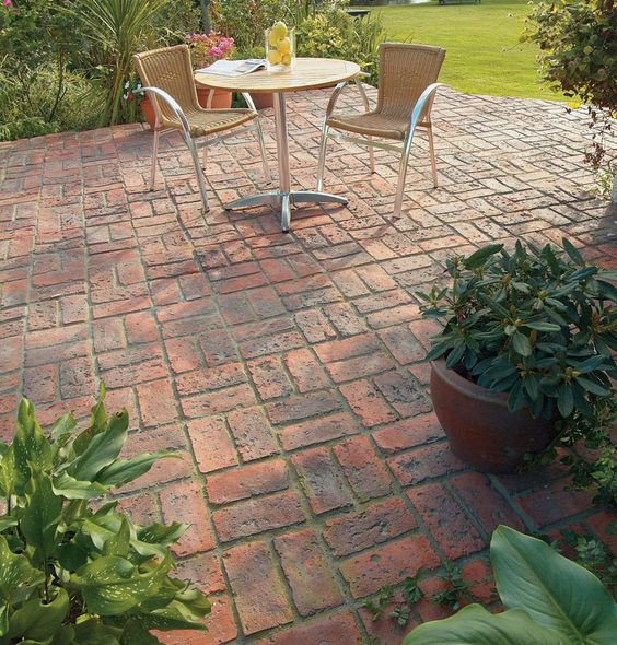 Basket Weave Pattern Paving : Dble basketweave full patio brett paving manmade
