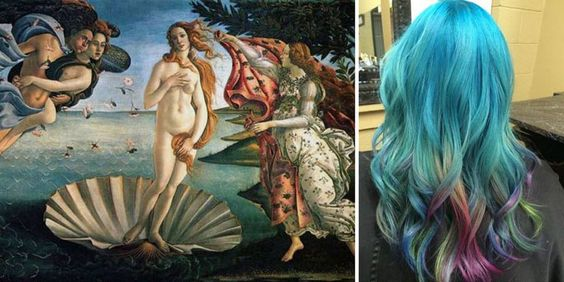 Hairstylist Haircut Inspired by Classic Masterpieces, http://itcolossal.com/hairstylist-classic-masterpieces/