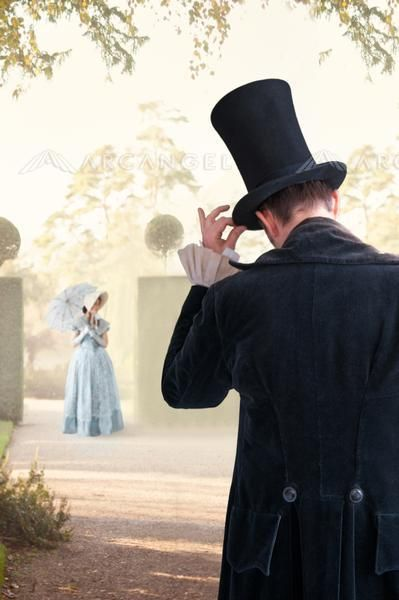 victorian couple meet in the garden BY: lee avison