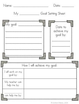 Student goal setting. Great for SLCs.
