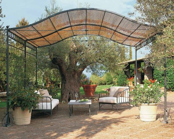 self supporting pergola iron ermitage unopiu outdoor. Black Bedroom Furniture Sets. Home Design Ideas