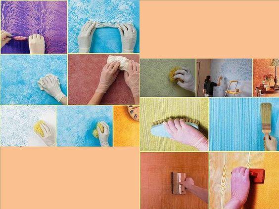 Casas amp te dice quiero darle textura a mis paredes con for Formas de pintar paredes interiores