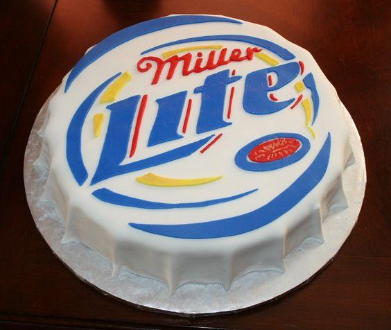 Miller Lite birthday cake