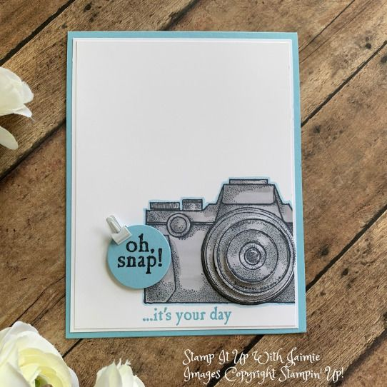 Stampin Up Clean And Simple Capture The Good Birthday Card Stamp It Up With Jaimie Cool Birthday Cards Birthday Cards Diy Birthday Cards For Boyfriend