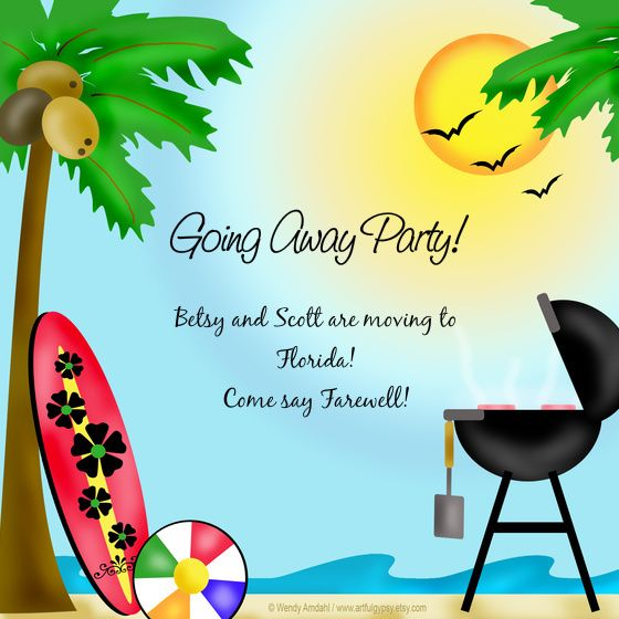 The 15 best ideas about Good-bye party on Pinterest Moving away - farewell party invitation template