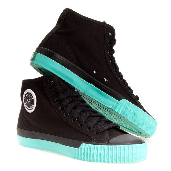 Pf Flyers Center Hi Pop Men's Athletic Shoes: Black/Green Pop 12