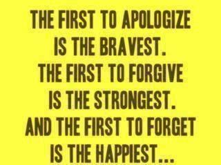 The first to forget is the happiest..