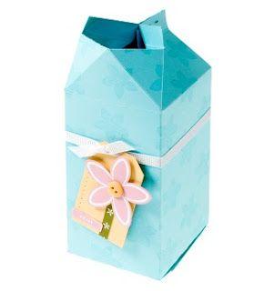 printable template for mini milk carton