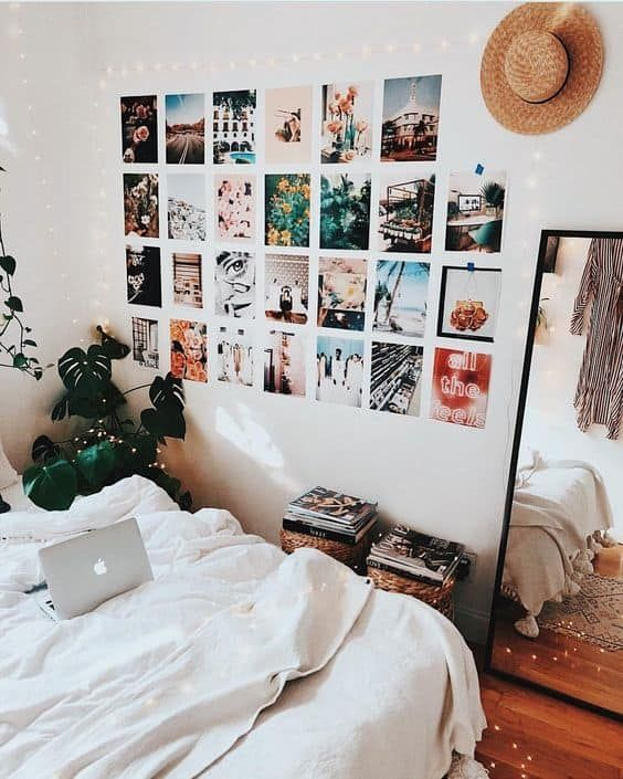 8 Cute Gallery Wall Ideas To Copy For Your College Dorm Room By Sophia Lee Dorm Room Wall Decor Dorm Room Diy Dorm Room Pictures
