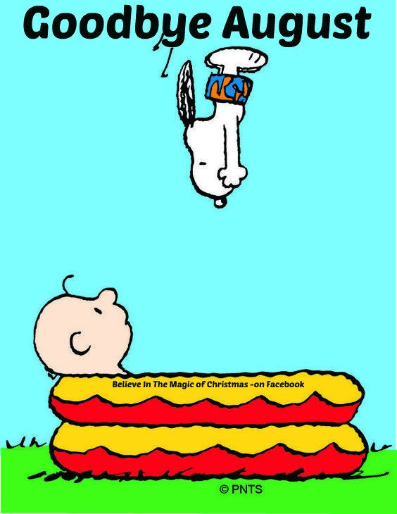 Snoopy & Woodstock Goodbye August: