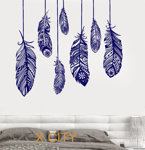 Cheap sticker wall decor, Buy Quality sticker skin directly from China stickers fiat Suppliers: Arrow Feather Love Wall Decal namaste Vinyl Sticker Art Decor Bedroom Design Mural home room trendy modernUSD 15.99/piec