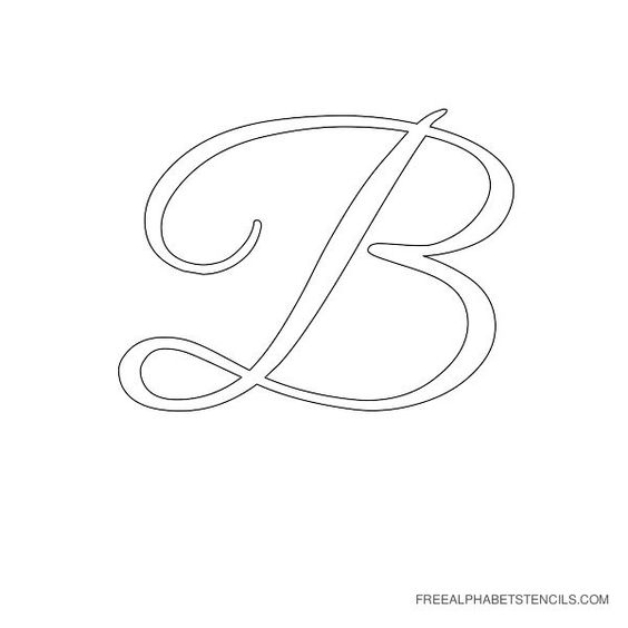 Fancy letter b stencils alphabet stencils in for Fancy alphabet letter templates