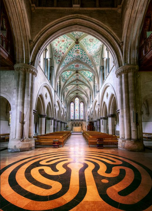 Early 12th century Boxgrove Priory, Chichester, Sussex, England