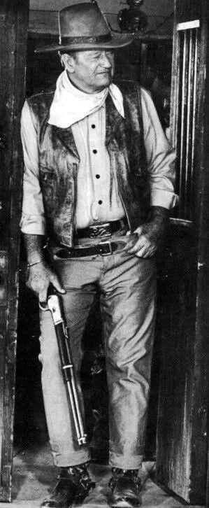 John Wayne. Looks like a scene from El Dorado