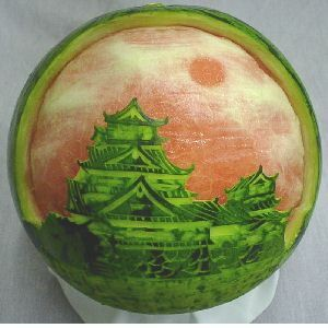 Watermelon carvings by Takashi Itoh~
