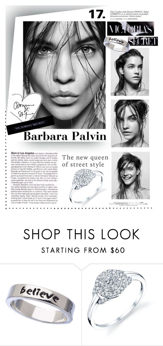 """Barbara Palvin"" by a-karlssons ❤ liked on Polyvore featuring beauty, Victoria's Secret and Erica Anenberg"