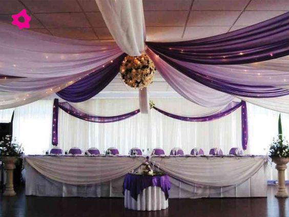 Decoraci n de salones para bodas con telas para m s for Decoracion con telas