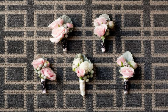 Light pink rose boutonniere