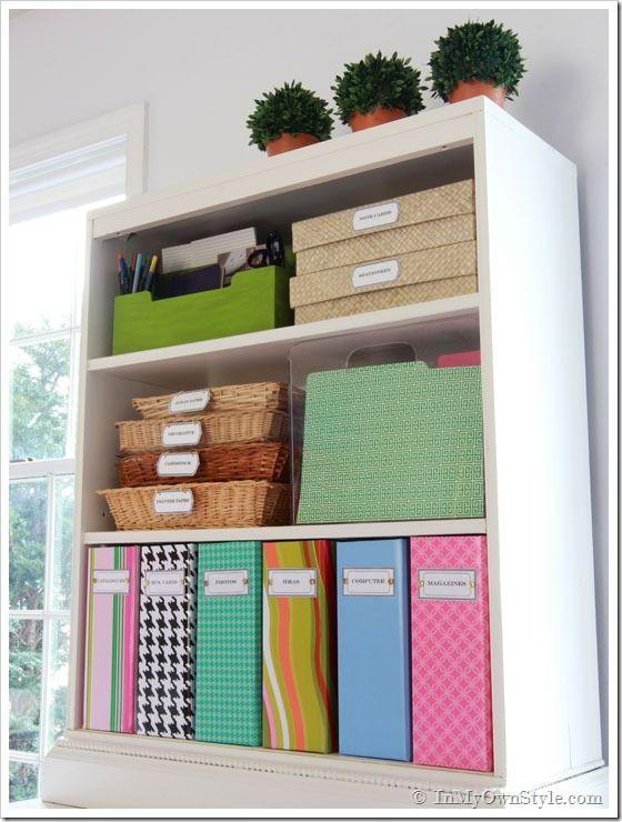 Organizing Ideas Colorful Magazine Files Free Labels Home Office Organization Office Organization Tips Office Organization Files