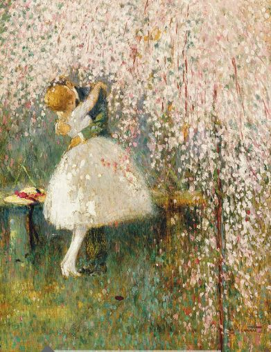 GEORGES PICARD - Romance Under the Blossom Tree: