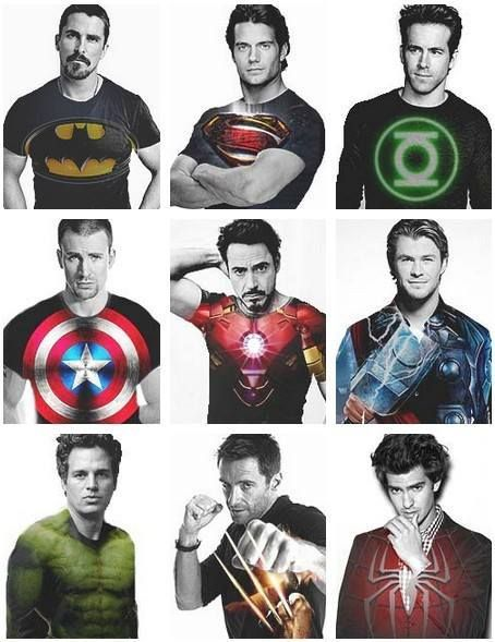 batman superman green lantern captain america iron man thor the hulk wolverine spider man batman superman iron man