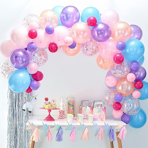 Ginger Ray Pastel Balloon Arch Kit 71pc Party City Pastel Balloons Purple Balloons