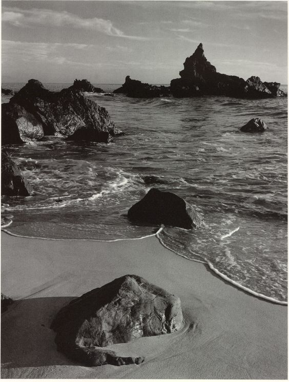ANSEL ADAMS, SURF AND ROCK, MONTERREY COUNTY COAST, CALIFORNIA, 1951: