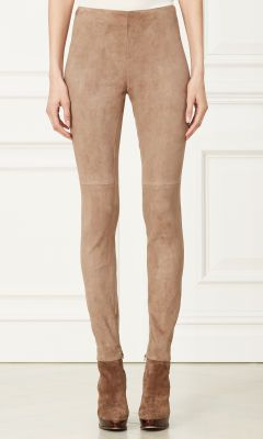 Eleanora Stretch-Suede Pant - Collection Apparel Pants - RalphLauren.com