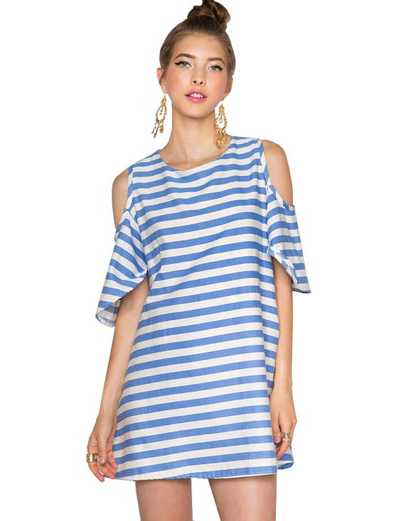 Striped Babydoll Dress $52.00  A dress for just about any ...