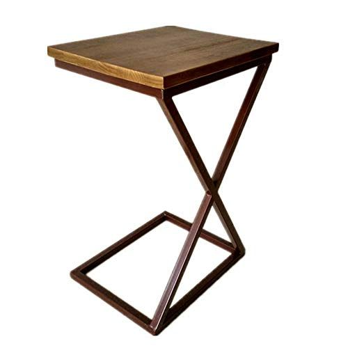 Xiaodong Sofa Side End Table C Shaped Table Laptop Holder Coffee Tray Side Table Wood Coffee Table Living Room Solid Wood Coffee Table Bedroom Bedside Table