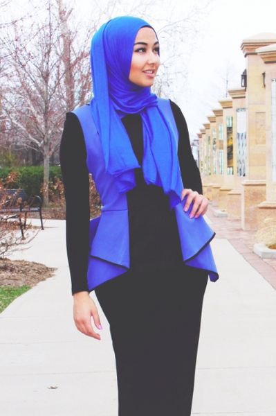 Dark Blue Office Wear Hijab Collection