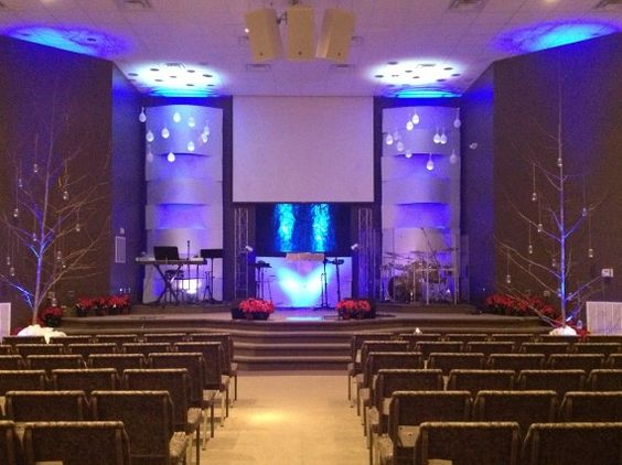 woven with snow church stage design ideas church stage ideas - Small Church Stage Design Ideas